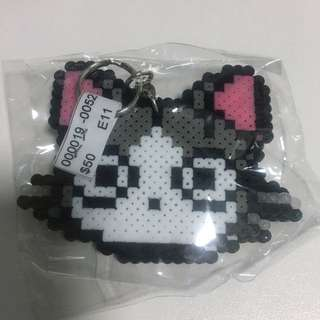 Melted Beads Craft Cat Keychain
