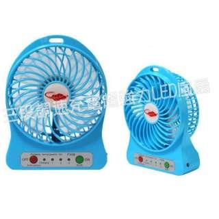 🚚 三段調速充電可攜式超強力風扇(LED照明)