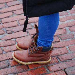 Women's Timberlands Red-Brown