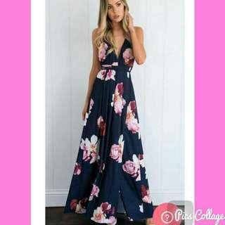 Goddess Floral Maxi Dress