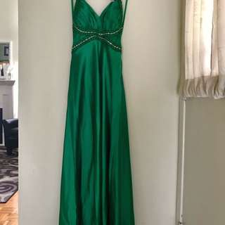 EMERALD GREEN GOWN - BRAND NEW