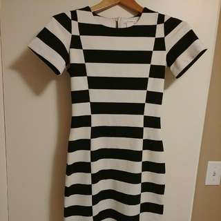 Striped Club Monaco Dress