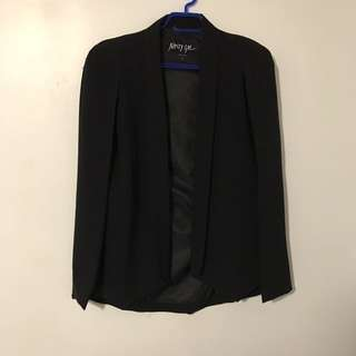 Like New Black Nasty Gal Cape Blazer