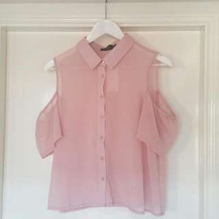 NEW Sheer Dusty Pink Top