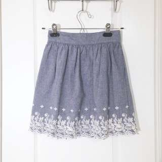 XS Embroidered Skirt