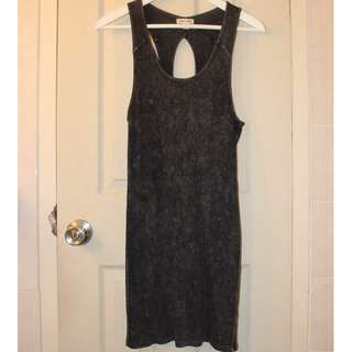 Urban Outfitters Cotton Acid Wash Ribbed Dress