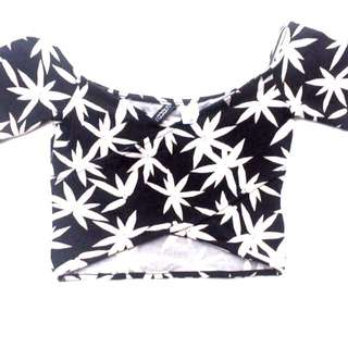 H&m Off Shoulder Crop Top