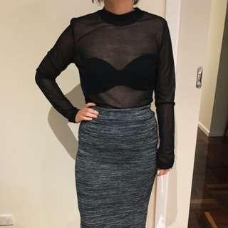 Third Form Size 10 Black Sheet Top