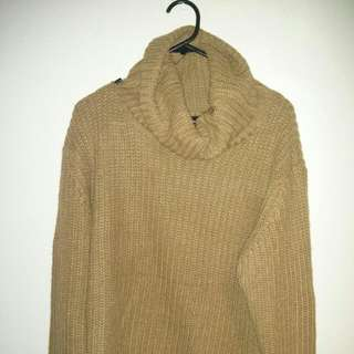 Camel Color Knitted Sweater