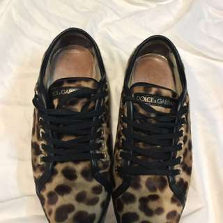 Authentic Dolce&Gabbana Calf Hair Sneakers