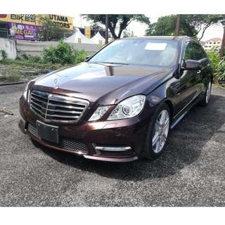 2012 Mercedes Benz E250 AMG P Roof Unreg With GST