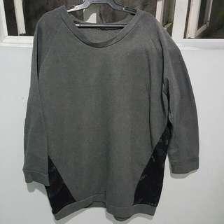 Gray Oversized Sweatshirt