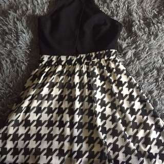 A Black And White Dress