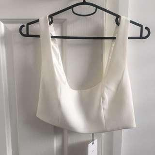 Bardot Crop Dress Top Size 6/8 (I'm a D Cup)