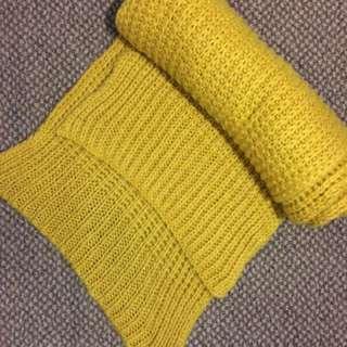 Mustard Yellow Chunky Scarf