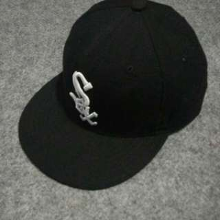 topi baseball new era white sox original made in USA size 7 3/8 (58.7cm) M-L