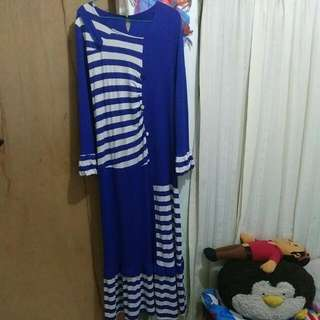 REPRICE !!! Gamis Blue Stripe 😍