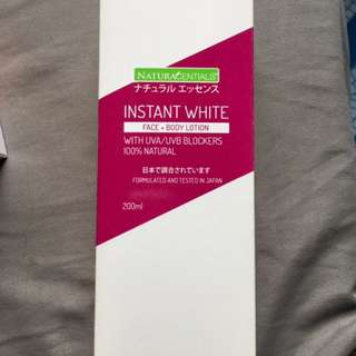 INSTANT WHITE Face + Body Lotion