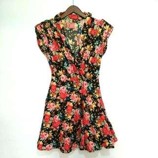 Floral Mini Dress - Preloved