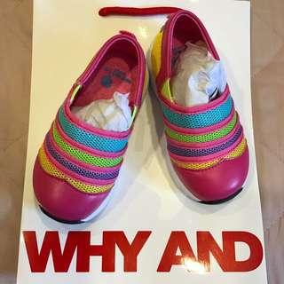 Whyand12 普普熊 彩條 基本款 運動鞋 便鞋 23號