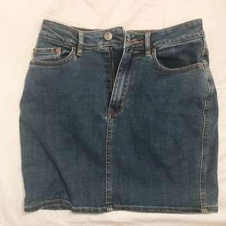 Lee Denim Skirt - Size 8