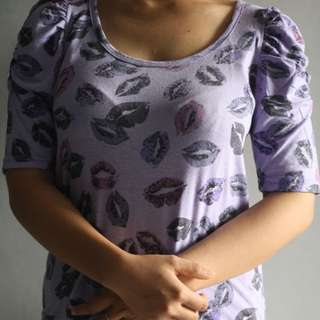 Purple Lips Shirt