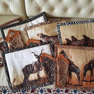 African Placemats With Napkins