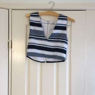 Striped Shorts And Crop $30 For The Set