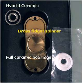 Brass Fidget Spinner W 2 Types Of Bearings