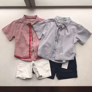 NEW PRICE AGAIN Chateau de Sable Shorts And Shirts