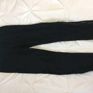 Black Leggings With Zip On The Side
