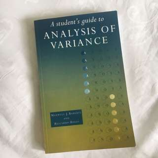 Analysis of Variance Textbook (PL2132)