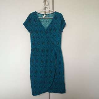 Shape Bluegreen Aztec Dress