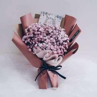 Korean Style Inspired - Pink Baby Breath Bouquet