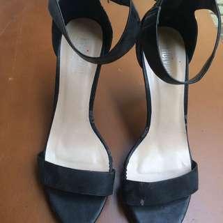 Basic Strap Heels Black