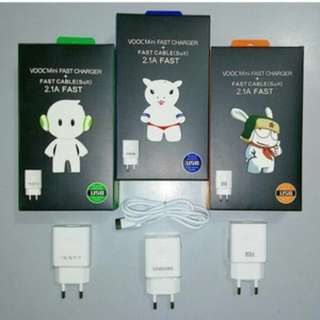 CHARGER BRAND VOOC SAMSUNG 2.1 A FAST CHARGING