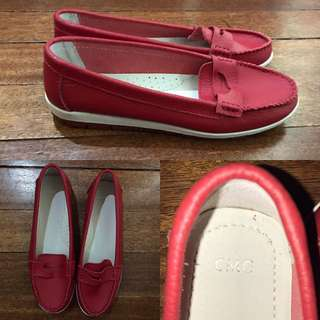 CMG Red Leather Close Shoes