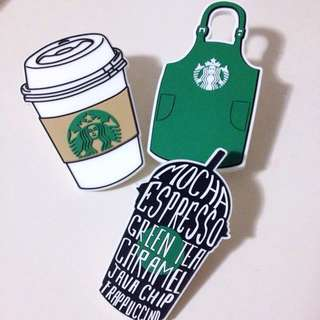 Starbucks Apron Coffee Pins