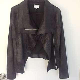 NEW Witchery Black Biker Jacket Size 6
