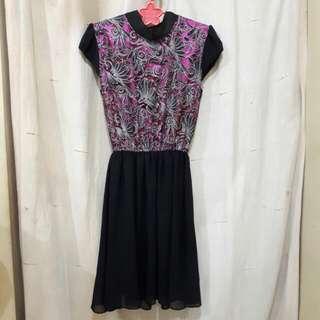 #TurunHarga Cheongsam Batik Dress
