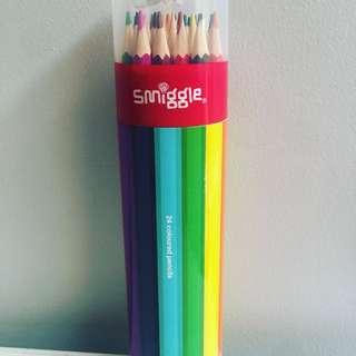 Smiggle Coloured Pencils X 24