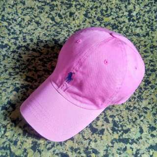 Polo Cap Leather Strips Pink