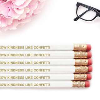 Wholesale Motivational Pencils Inspiring Quotes(quotes Stationary Books Notebook Pens Writing Student Gold Foil Words)