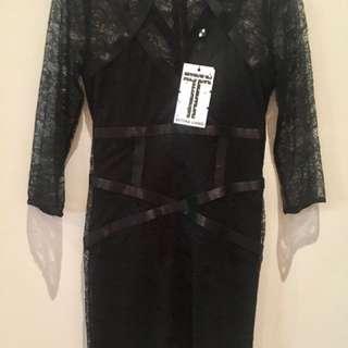 BNWT Bettina Liano Sexy Black Lace Dress RRP$109