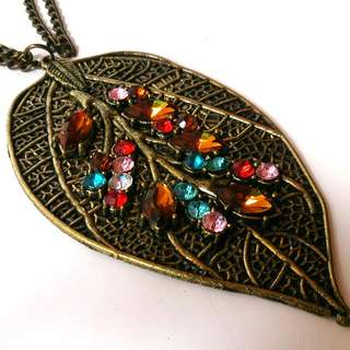 Necklace Leaf Kalung Motif Daun