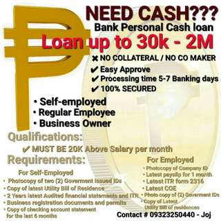 Avail Our BANK PERSONAL CASH LOAN Fast Approval