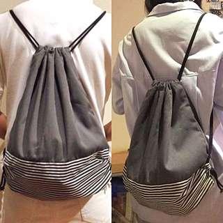 Tas serut / Draw string bag Abu