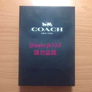 Coach小型精品包裝紙袋黑白