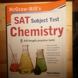 SAT Chemistry Guide + 5 Practice Tests