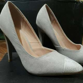 Gray High Heeled Shoes - REPRICED!
